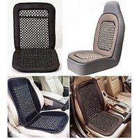 Car Wooden Bead Seat Cushion With Black Velvet Border