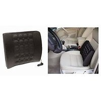 Vibrating Car Back Seat Cushion For Relaxation  Black Colour