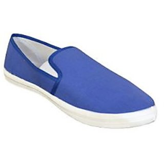 Royal Blue Canvas Slip On Shoe