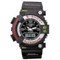 MTG Analog-Digital Black Silicone Watch - Men
