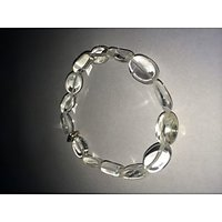 CRYSTAL QUARTZ BRACELET (OVAL)