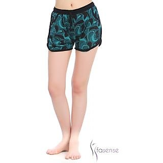 Fasense Women Stylish Nightwear Green Cotton Sleepwear Shorts  (DP047 A)