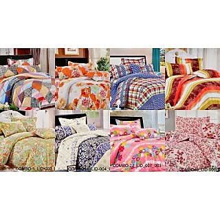 Valtellina Charming  Single Bed Sheet Combo of 8(COMBO-1_LID_9_3_10_4_7_5_23_6)