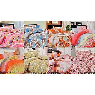Valtellina Charming  Single Bed Sheet Combo of 8(COMBO-8_LID_9_14_10_16_7_17_23)