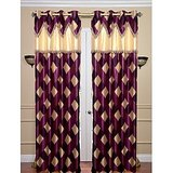 Beautiful Designer Purple Curtain With Laces(4x7ft)