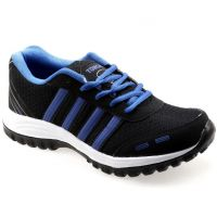 Tomcat Mens Black,Blue Lace-up Running Shoes