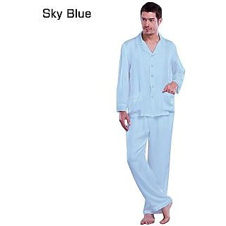 MISR Cotton 2 Pcs Sky Blue Unisex Night Wear (SLUNW094)