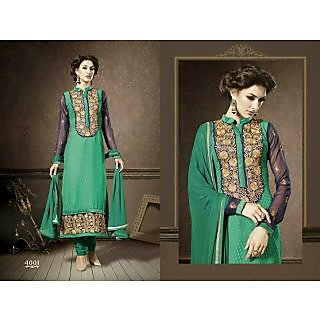 Designer Embroider Semi Stitch Suits  Ethnic Wear 4001