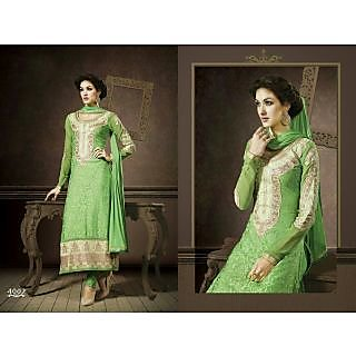 Designer Embroider Semi Stitch Suits  Ethnic Wear 4002