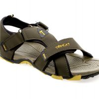 Tomcat Mens Dark Green,Yellow Velcro Sandals