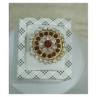 fashionite13 Jewellery- Ethnic Gold Plated Cz Stone Cocktail Ring