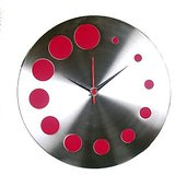 Designer Wall clock in steel designed in Germany limited period offer 1
