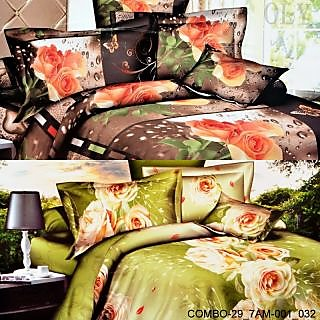 Valtellina set of 2 double bedsheet with 4 pilow covers(COMBO-29_7AM-001_032)