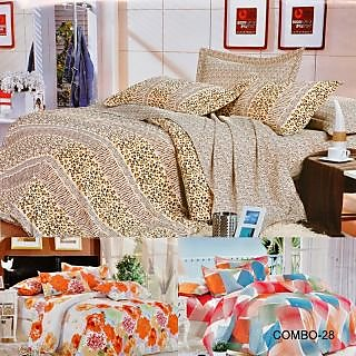 ValtellinaSet Of 3 Double Bed Sheet With 6 Pillow Covers(Combo-28_LID-010_012_0)