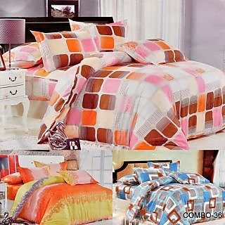 ValtellinaSet Of 3 Double Bed Sheet With 6 Pillow Covers(Combo-36_LID-014_016_0)