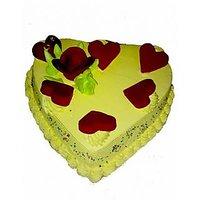 1 Kg Heart Shape Designs Cake