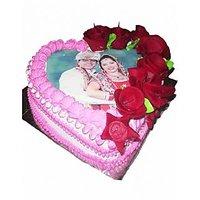 Heart Shape Designer Photo Cake