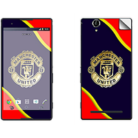 Skintice Premium Vinyl Skin For Sony Xperia T2 Ultra Dual, Design - Manchester United