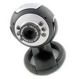 New Quantum 25 Mp Usb Webcam Mic Chat Video 6 Lights Web Cam Night Vision