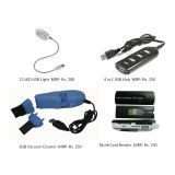 Usb Combo Of 4 In 1 Usb Hub, 13 Led Usb Light, Usb Vacuum Cleaner & Card Reader