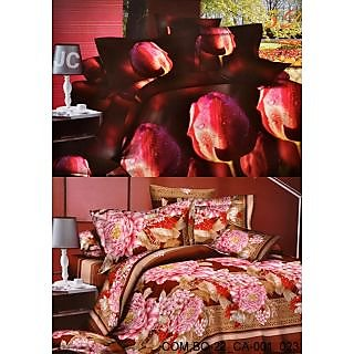 Valtellina Set of 2 Bed Sheets with 4 Pillow Covers(Combo-22_CA-001_023)