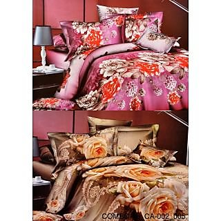 Valtellina Set of 2 Bed Sheets with 4 Pillow Covers(Combo-26_CA-002_005)