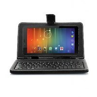 VOX 7inch V105 Dual SIM 3G Calling Android 4.4.2 Kitkat Tablet Cum Mini Laptop