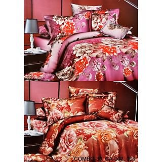 Valtellina Set of 2 Bed Sheets with 4 Pillow Covers(Combo-30_CA-002_009)