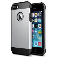 Spigen SGP Slim Armor Case For IPhone 4 / 4s Silver Colour.