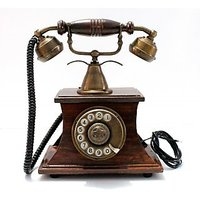 Modern Look Black Brass Landline Telephone