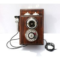 Modern Look Black Brass Finish Vintage Style Phone