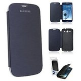 Samsung Galaxy Core I8260/I8262 Flip Case Cover Flip Cover, Black/white.with Free Screen Protector