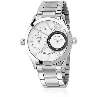 Metal Multi White Dial Watch