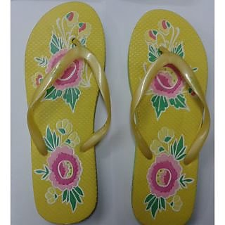 Nitro Ladies Yellow Green Ladies  Flip-Flop
