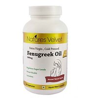 Fenugreek Oil 500mg Extra Virgin , Cold Pressed 60 Vegetarian Capsules By Nature