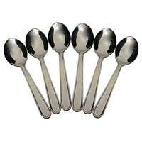 Spoon - Tea /Dessert Spoon - Sigma Border Spoon - Stainless Steel - 2 Set Of 6