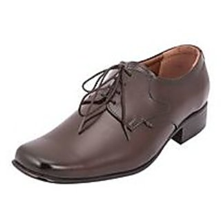 Tycoon Men's Brown Synthetic Leather Formal Shoes-SAF-012-BR