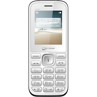 Micromax X2050 Wireless FM+Dual Sim Mobile Phone (White)