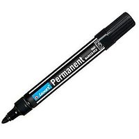 Luxor 960 Single Black Permanent Marker Pen (Pack Of 10 Pcs)