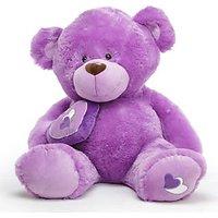 Purple Teddy Bear Soft Toy