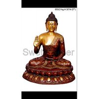 Brass Red Color Buddha Statue From Arts And Crafts Of India