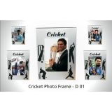 DESIGNER CRICKET PHOTOFRAME MODEL D1 - India Breathes Cricket. A Cricket Theme Photo Frame Designed For The People Of A Cricket Obsessed Nation Go India Go!
