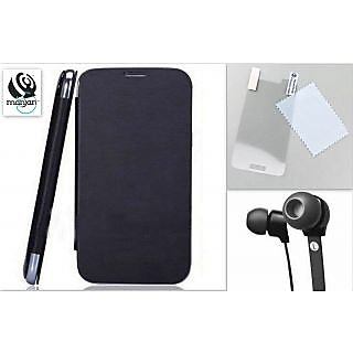 Flip Cover Battery Replaceable Case for Samsung Star S5282 black with Screen Guard  HiDefinition Ear Phones available at ShopClues for Rs.174