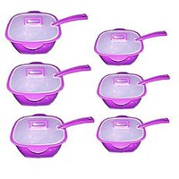 WonderMate Cook & Serve Casserole Set With Ladle 6 + 6