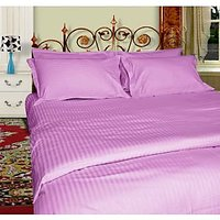 Just Linen Supersoft Pencil Stripe Micro Fabric Reversible Lilac King Size AC Comforter