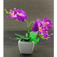 Artifical Purple Flower With Ceramic Pot