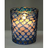 Hand Design Glass Aroma Candle (small)