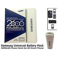 Samsung Travaling Charger 2600 MAh PowerBank With Data Cable