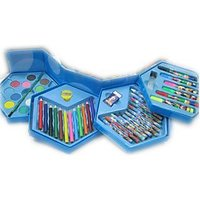 COLORS BOX SET OF 46 PCS,COLOR PENCIL ,CRAYONS , WATER COLOR, SKETCH PENS ETC