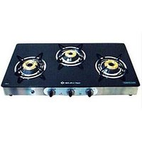Bajaj CGX3B 3 Burner SS Glass Cooktop